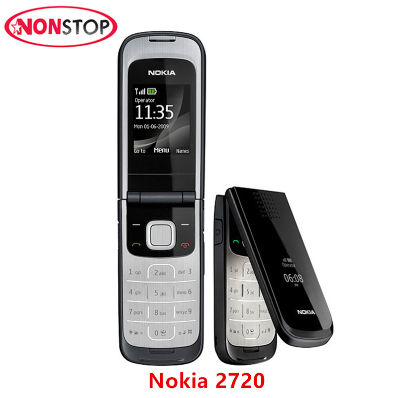 Nokia 2720 Unlocked Original 2720 Nokia Mobile Phone with Original Screen Bluetooth FM refurbished free shipping(China)