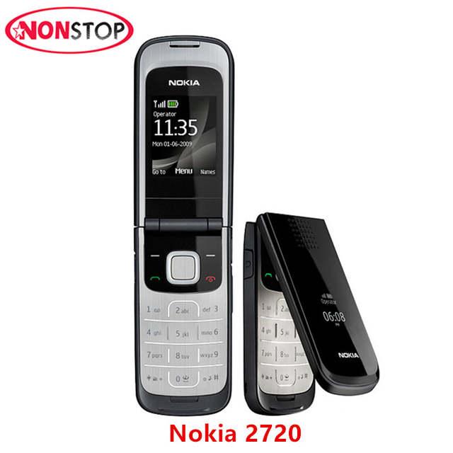 Nokia 2720 Unlocked Original 2720 Nokia Mobile Phone with Original Screen  Bluetooth FM refurbished free shipping