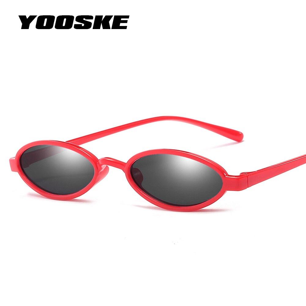YOOSKE Retro Minúsculo Oval Óculos de Sol Do Olho de Gato Óculos De Sol Das  Mulheres 28e43dc14a