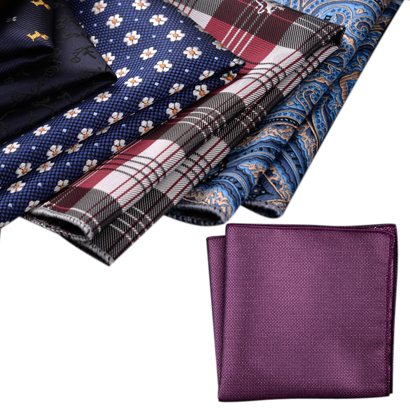 23 Cm  Various High Quality Fashion Floral Pocket Squares Smooth Polyester Made Handkerchiefs Gentleman Vintage Accessories