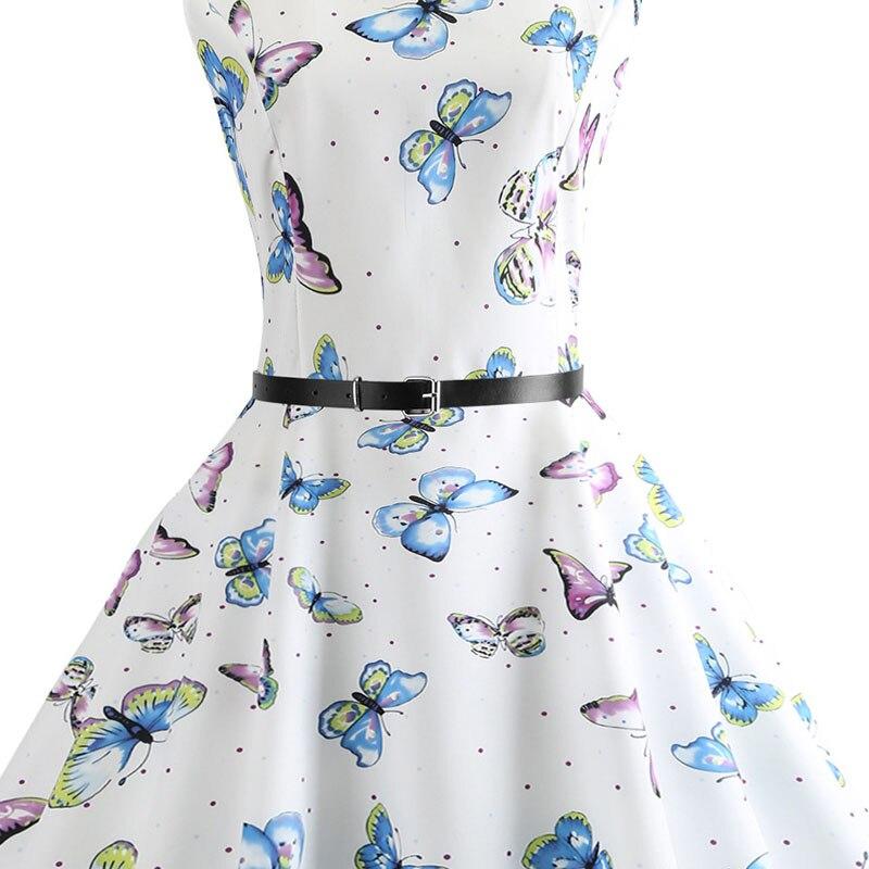 Blue Vintage Swing Dress 64