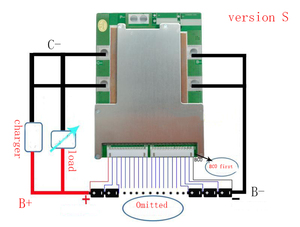 Image 5 - 7 S 120A versiyonu S lityum Polimer lipo BMS/PCM/PCB pil koruma levhası 7 Paketleri 18650 li ion pil hücresİ w/Denge