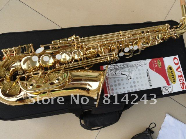 High Quality Eb Alto Saxophone Yanagisawa E Flat Type Surface Strengthening Gold Sax Musical Instruments With Case