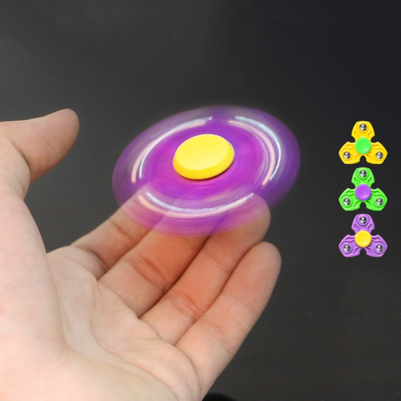 Plastic EDC Hand Spinner For Autism and ADHD Anxiety Stress Relief Focus Toys Kids Gift Funny Toy new style edc round three corner camouflage hand spinner for autism and adhd anxiety stress relief focus toys