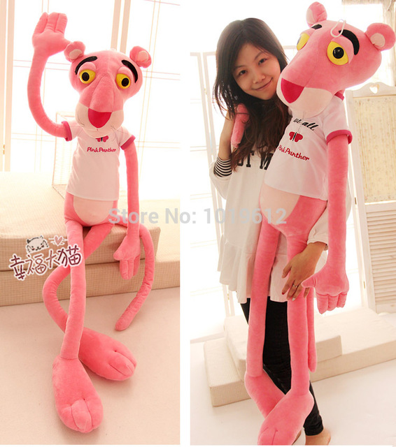 55cm Leopard Wave Of Pink Panther Plush Toy