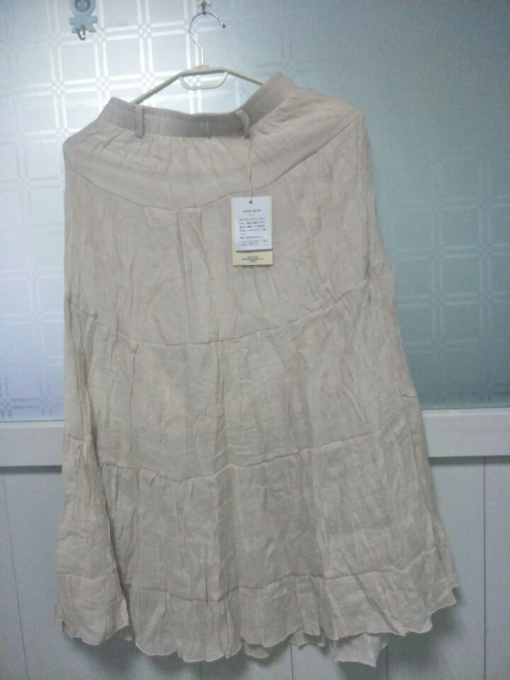 1 piece Women 39 s Elegant High Waist Elastic Waist Linen Pleated Long Skirts Ladies Slim Casual Skirt Saias with waist belt in Skirts from Women 39 s Clothing