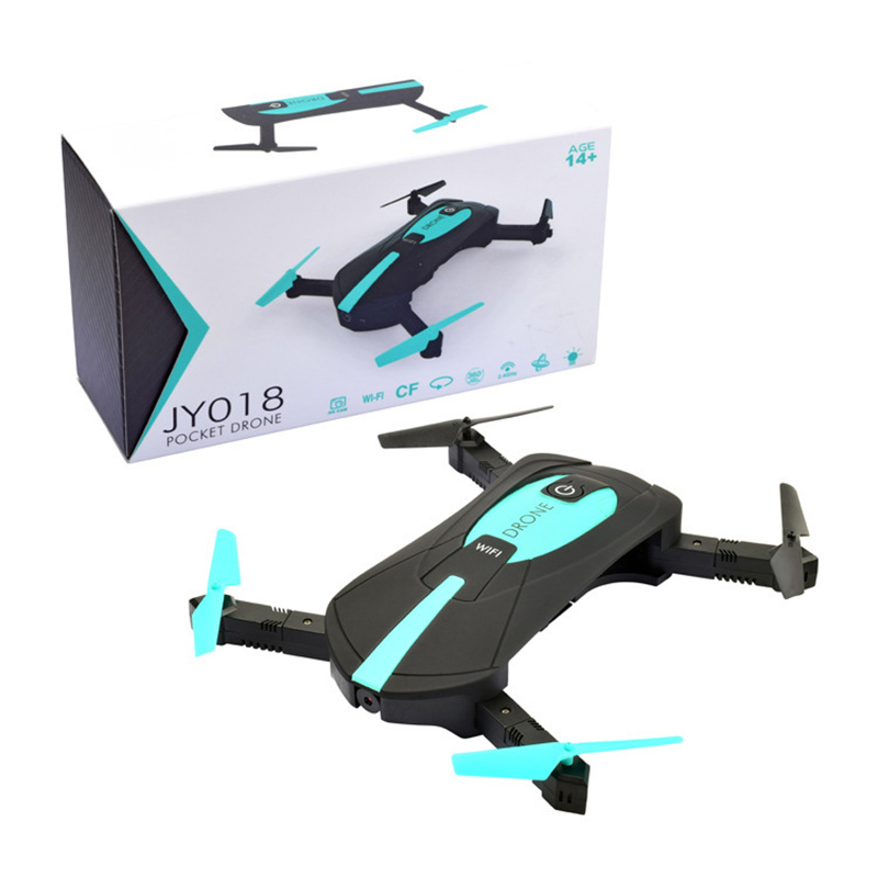 18Y Mini Drones With Camera HD 2MP Remote Control Helicopter WiFi FPV RC Quadcopter Foldable Selfie RC Drone Professional in RC Helicopters from Toys Hobbies