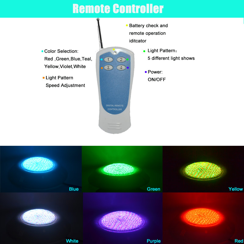 Led Underwater Lights Wall Mounted Rgb Led Swimming Pool Light Piscine Ac 12v 18w 24w 35w Blue Rgb Color Changing With Remote Controller Ip68 Lampara