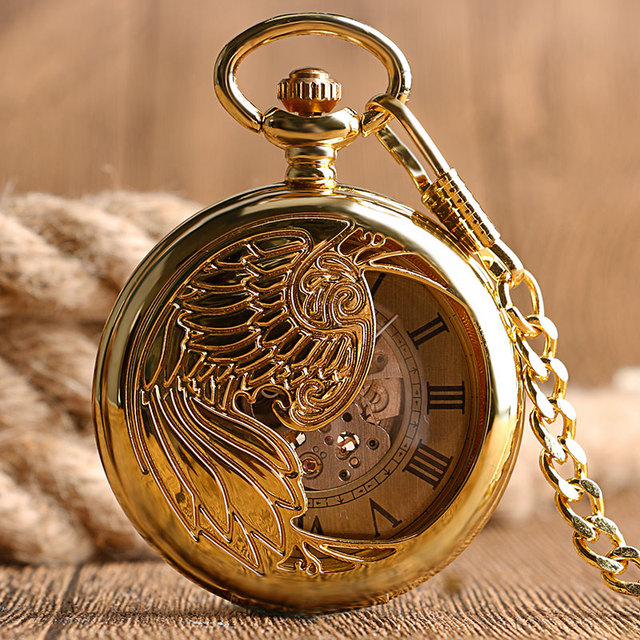 Steampunk Skeleton Relogio Automatico Mechanical Golden Luxury Phoenix Self Wind