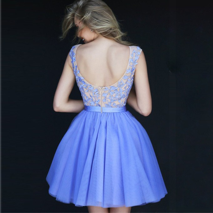 70548b0b3 HK1481L Hot Light Deep Blue Vestidos Cortos Graduacion Color Fucsia ...