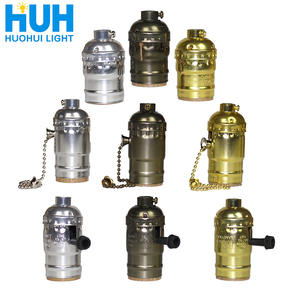 Base-Holder Screw-Socket Switch Light Shell-Bulb Antique-Lamp Retro Vintage E27 3-Colors