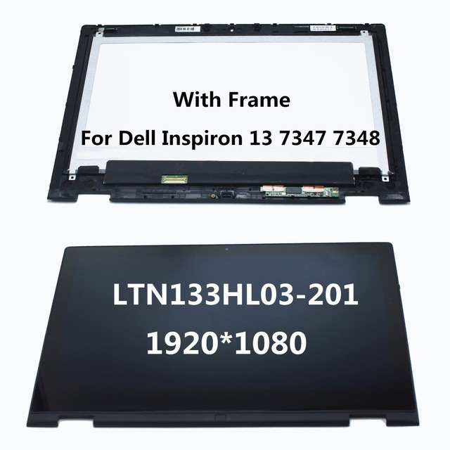 "13.3 ""portátil lcd pantalla táctil digitalizador asamblea + frame para dell inspiron 13 7000 series 7347 7348 p57g ltn133hl03-201"