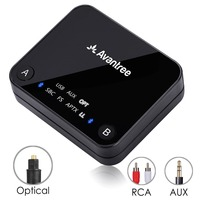 Avantree Dual Link AptX Low Latency Supported Transmitter With LED TX Bluetooth Transmitter For TV Headphone