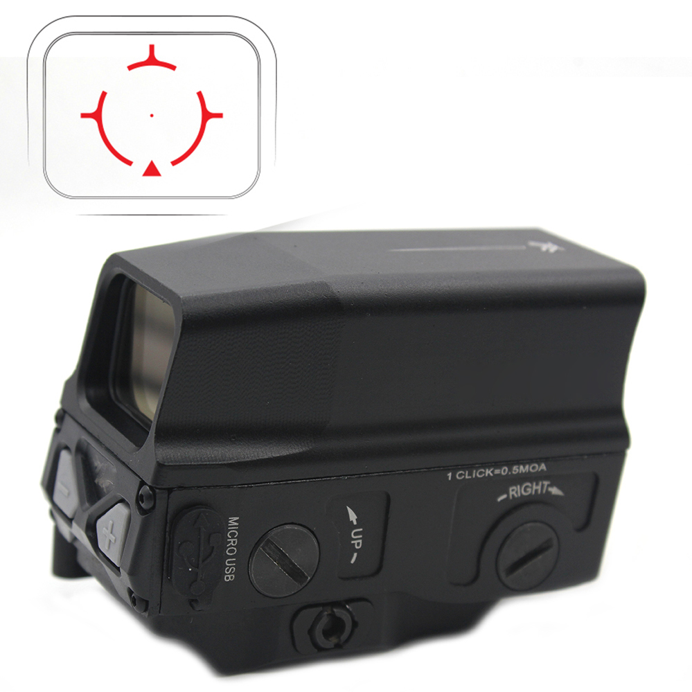 Red Dot Sight UH-1 Holographic Sight Reflex sight USB Charge for 20mm Mount Airsoft Hunting Rifle Red Dot Sight UH-1 Holographic Sight Reflex sight USB Charge for 20mm Mount Airsoft Hunting Rifle