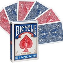 1 Deck Bicycle Double Back Red&Blue Playing Cards Gaff Magic Special Props Close Up Stage Tricks for Magician