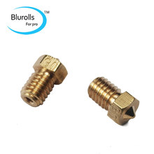 3d printer parts diy reprap brass V6 nozzle 0 3mm 1 75mm filament hotend marked number