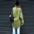 2016 Otoño Foso de Las Mujeres Recoger Etiquetado Traje Militar Del Ejército Abrigos Verde Negro 5988
