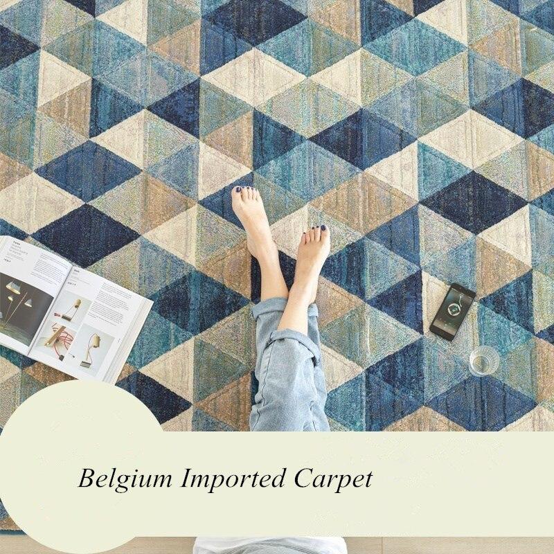 Belgique importé tapis salon épais chambre tapis décor à la maison tapis nordique canapé Table basse tapis de sol salle d'étude tapis