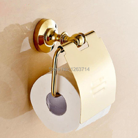 Wall Mounted New Bathroom Accessories Sets Brass Easy Install Paper Holders Golden Finish Toilet Paper Towel