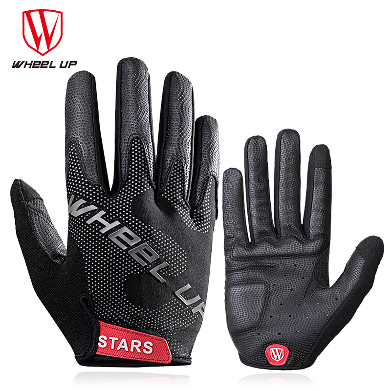 Wheel Up Full Finger Cycling Glove Anti-slip Bike Bicycle Gloves Touch Screen MTB Road Bike Gloves Sport Shockproof Gloves unisex cycling gloves men women anti slip outdoor sport mtb road bicycle glove half finger bicicleta red blue