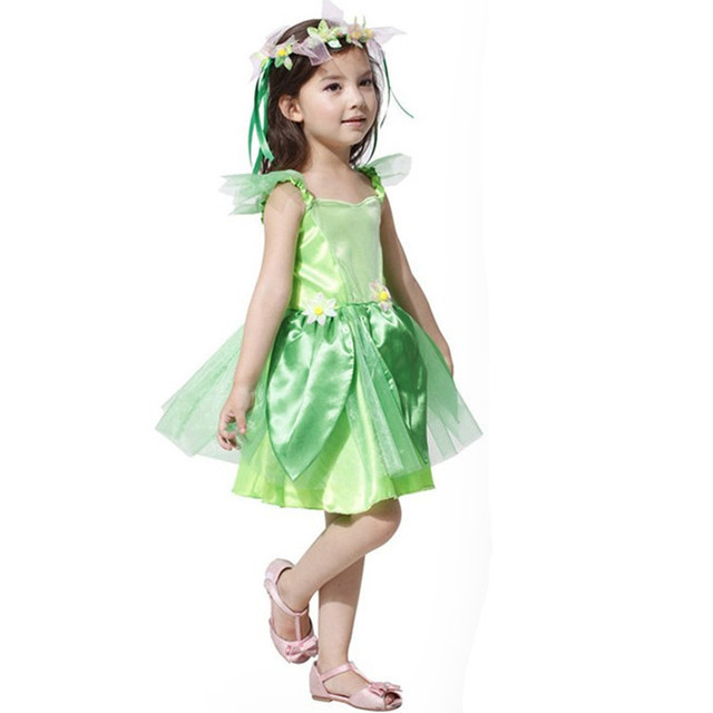 children halloween costume for kids princess tinkerbell costumes gril Christmas cosplay Green Fairy tinker bell dress  sc 1 st  AliExpress.com & children halloween costume for kids princess tinkerbell costumes ...