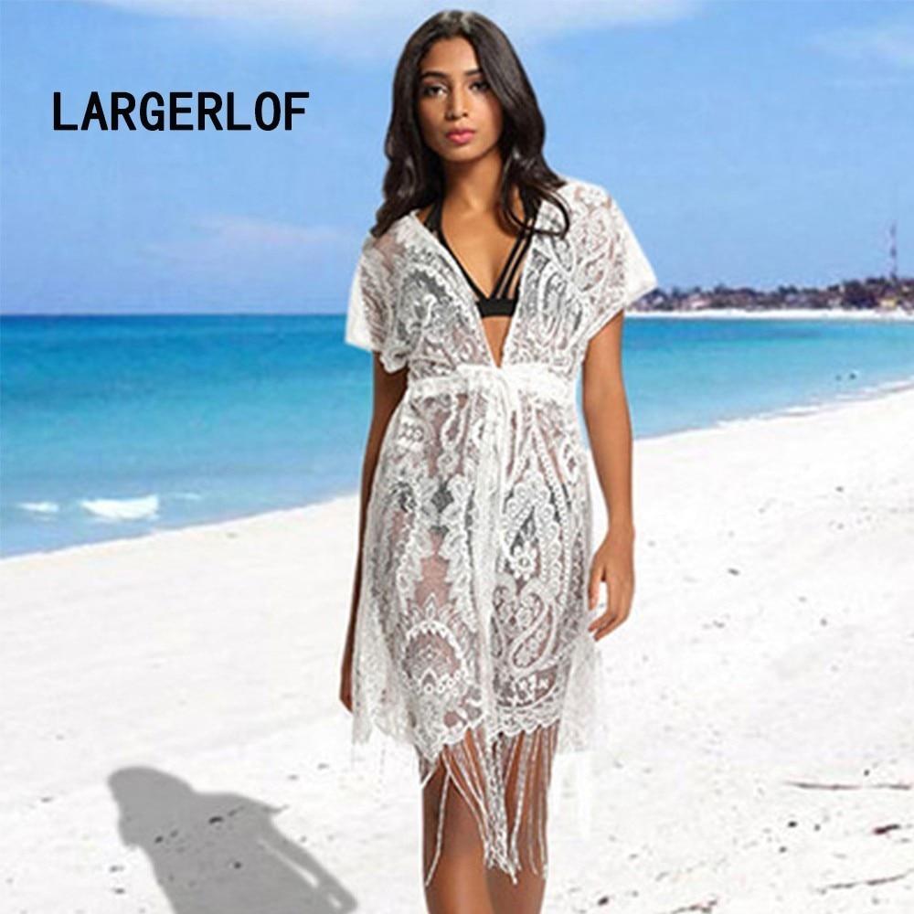 Dress Beach Lace Long Bikini Cover Up Bathing Suit Beach Wear For Women 2018 Beach Outings BK39007 недорго, оригинальная цена