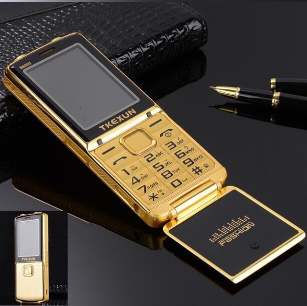 Cadeau 8800i vitesse cadran voix Magique de téléphone portable bluetooth SOS une touche double torche FM whatsapp débloqué flip métal mobile téléphone