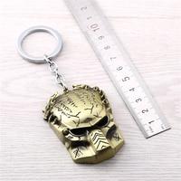 J store 10Pcs/lot movie Alien Predator Mask Pendant Keychain for Men Jewelry Alien Zinc Alloy Keyring key Chain holder Chaveiro