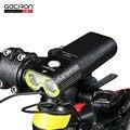 Gaciron Fiets Koplamp Achterlicht Suite Pack USB Lading Interne Batterij LED Voor Staart Lamp Fietsen Verlichting Visuele Waarschuwing