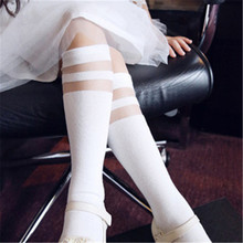New 2016 Cute girls cute cartoon cotton knee socks children knee high silk stockings character cat