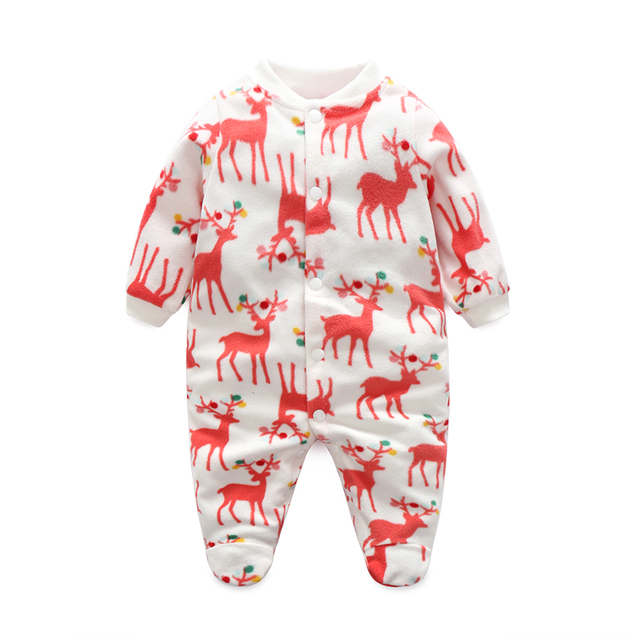 85d0f78fb Fashion Baby Boy Clothes Girl Jumpsuits Cartoon Baby Rompers Clothes Fleece Newborn  Unisex Next Body Baby Sleepers Infant Romper