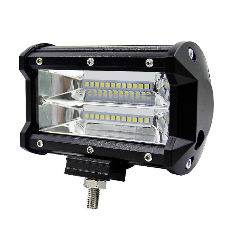 5inch 72W 2 Row Work Light Bar 6000K Flood Lamp Marine LED Lighting For Jeeps Off