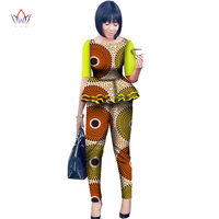 2017 Legging Sets For Women Custom Brand Two Pieces Sets African Bazin Riche Clothes For Women