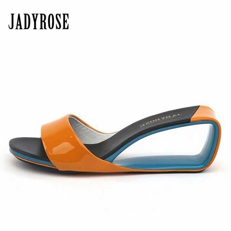Jady Rose 2019 Designer Gladiator Sandals Fashion Wedge Shoes Women Sandals High Heel Slippers Valentine Shoe