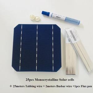 Image 5 - Allproteção de célula solar 25 peças, painel fotovoltaico de 0.5v 4.8w grau a 156mm diy 120 painel solar mono 12v w