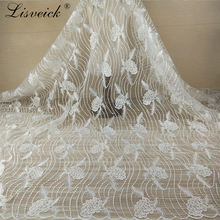 new 1yard white Grape embroidered lace fabric tulle exquisit High quality heavy flower wedding dress veil mterial