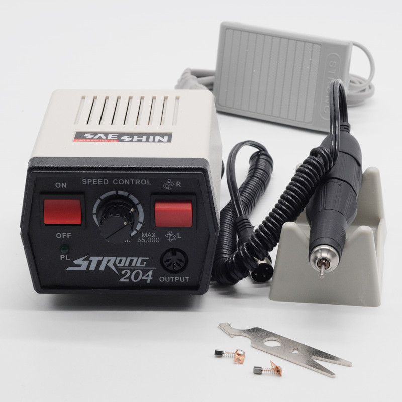 Micromotor Machine Strong 204+102l Handpieces Jewelry Tools 220V For Dentist Lab