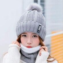 Cuello de punto de invierno sombrero para las mujeres lana boinas gorros  carta B sombrero de 81c54a249dd