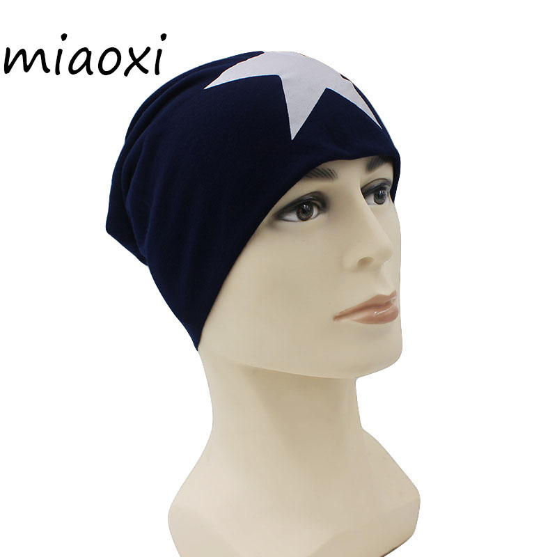 miaoxi New Fashion Women Hat Beanie Caps Girl Hats For Men Letter Casual Stars Knitted Bonnet Autumn Female Skullies