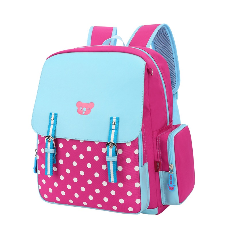 Bolsa Escolar Infantil Feminina : Polka dot nylon impress?es crian?as escola bag