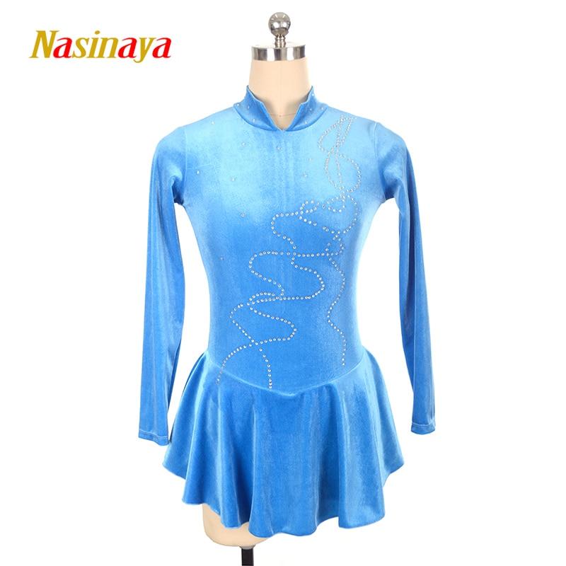 Nasinaya фигурное катание платье заказной конкурс Катание на коньках юбка для девочки Для женщин дети patinaje гимнастика производительность 41