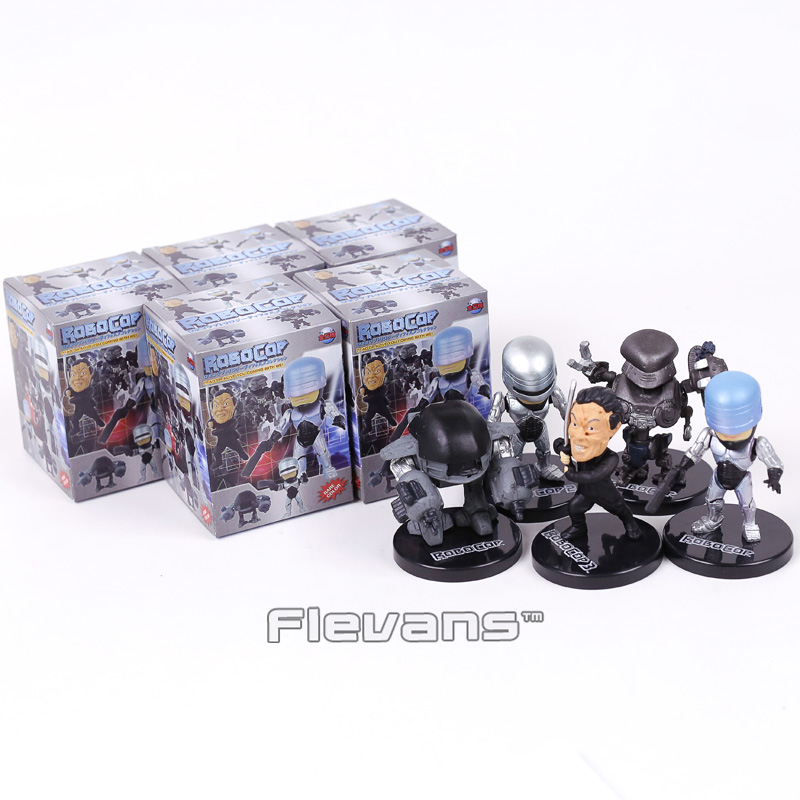 Movie RoboCop Mini PVC Action Figures Collectible Model Toys 5pcs/set avengers movie hulk pvc action figures collectible toy 1230cm retail box