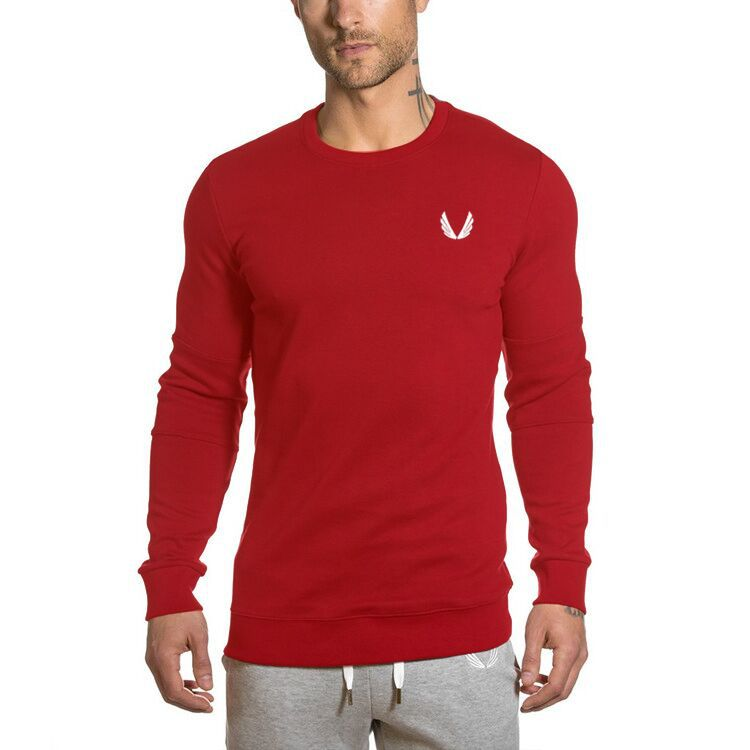 Men Long Sleeve Round Collar Sweatshirt Sportswear Men Hooded 3 Color Casual Sweatshirt Men Hoodies Solid Pullover Clothing