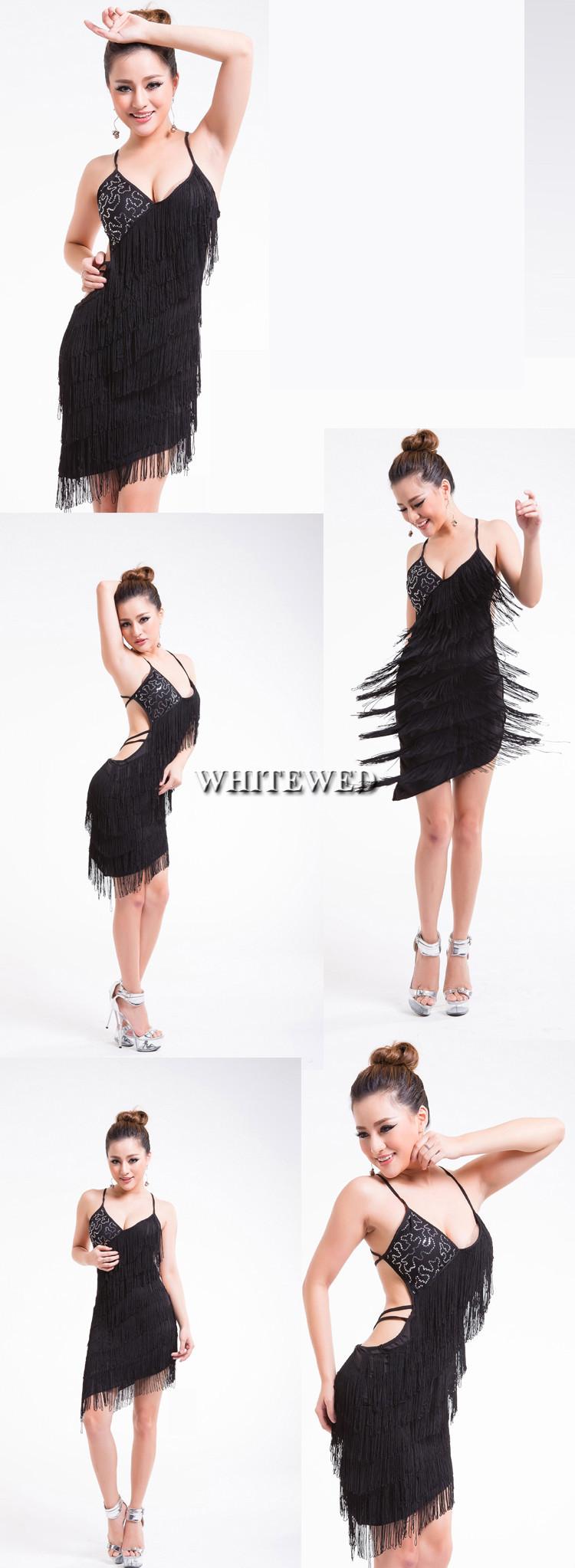 f2981583710d3b Kwastje omzoomd sequin backless latin argentijnse tango ballroom ...