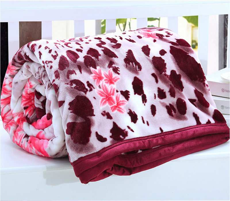 Red Printing Throw Blankets Bedding Super Warm Soft adult blankets for beds Home Textile Winter Children Blanket 150X200CM