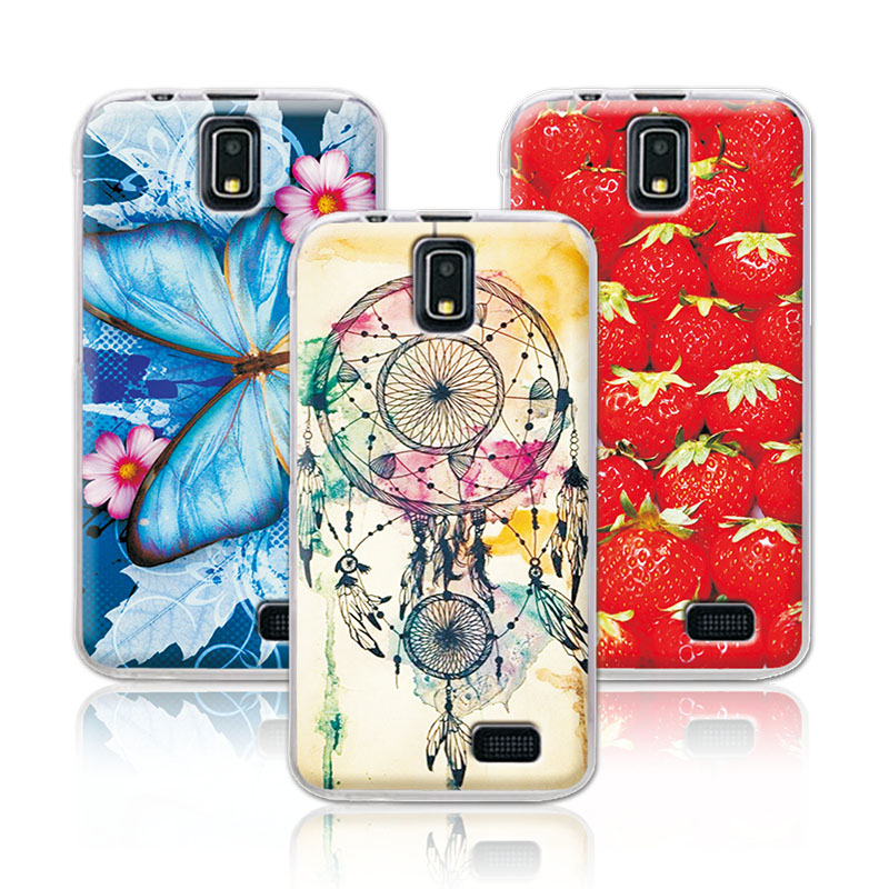 Women Girls Colorful Beautiful Floral Painting Soft TPU For Lenovo A328 A328T Case Flowers Skin For Lenovo A328 Back Cover+Gift