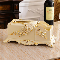 multifunctional ceramic tissue box, paper box, luxury luxury living room, desktop remote control, admission box, home