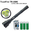 TrustFire 3800 люмен TR XMK фонарик 3 х CREE 5-режим XM-K 3 * Cree СВЕТОДИОДНЫЙ Фонарик Факел Лампы Факел + 3x18650 маслянистый + зарядное устройство