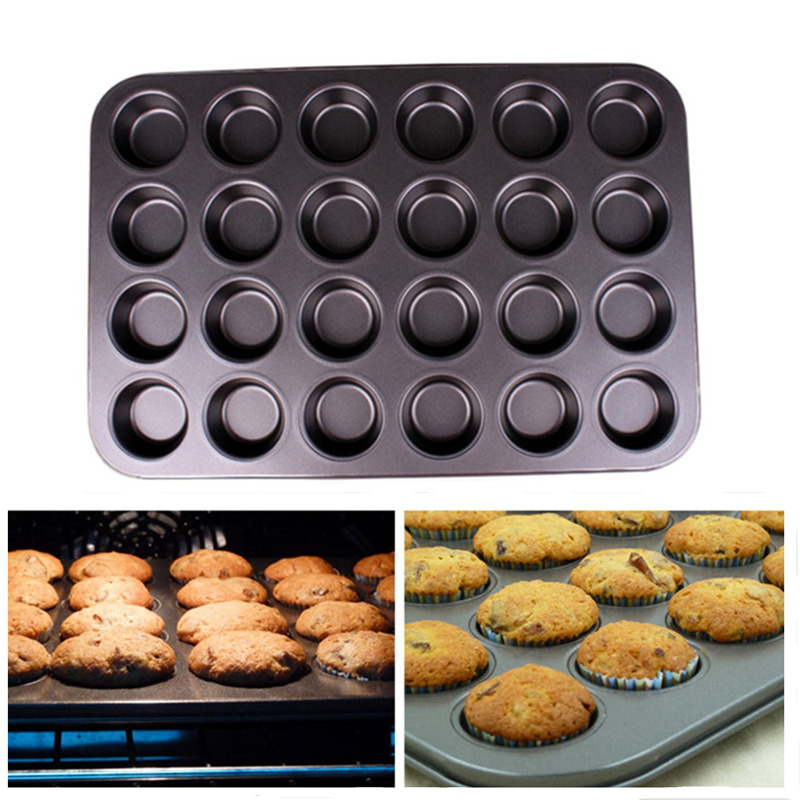 Mini 24 Cup Non-Stick Cake Mold Soap Cookies Cupcake Bakeware Pan Muffin Non Stick Tray Bakeware Baking Tools 35.5*26.5cm