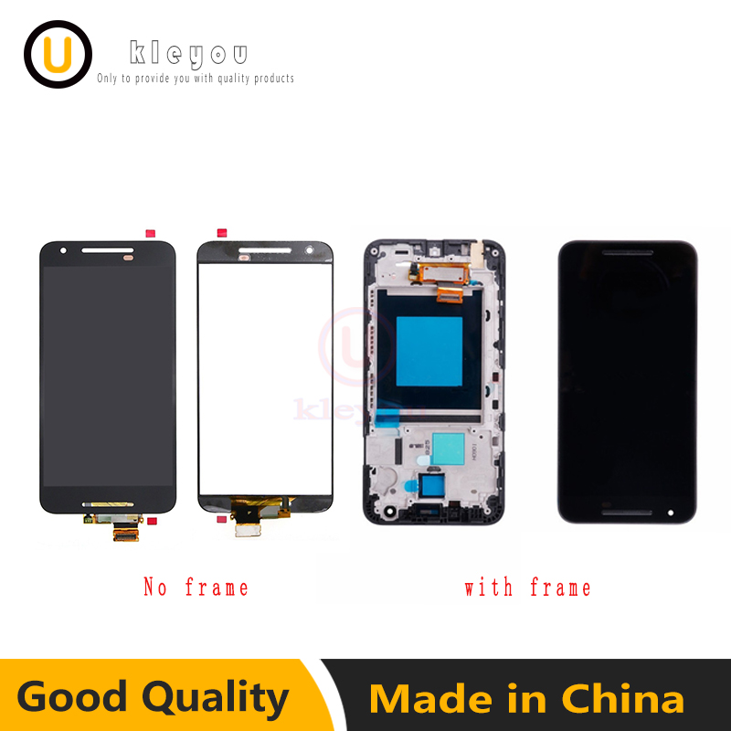 Black For LG Google Nexus 5X H790 H791 H798 LCD Display Touch Screen Digitizer Assembly Repair Replacement Parts+Bezel Frame